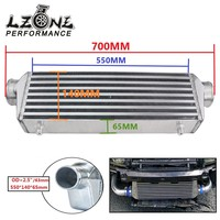 LZONE 550*140*65mm Universal Turbo Intercooler bar&plate OD=2.5 Front Mount intercooler JR IN811 25