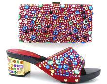 New african schuh und tasche zu matcg set TH16-33 rot farbe fashion Italienische frauen schuh und tasche zu passen set GRÖßE 38-43