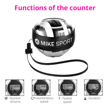 Self-start Wrist Traing Ball with Counter Gyroscope Muscle Trainer with Light Gyro Arm Exerciser Strengthener Wrist Power Ball 4