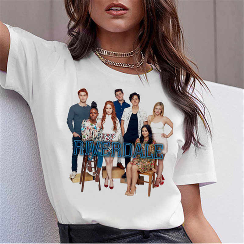 Showtly riverdale t shirt friends tv women clothes 2019 harajuku gothic vintage oversized t shirt graphic tees women