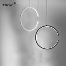 Nordic LED Pendant Lights Creative Ring Pendant Lamp Simple Modern Personality Home Decor Hanglamp Loft Lighting Light Fixture