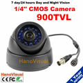 "960H 1/4"" Image Color CMOS Sensor 900TVL 24 IR Leds Night Vision Dome CCTV Camera 3.6mm Lens Color Image IR Surveillance Camera"