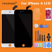 YWEWBJH AAA Quality LCD For iPhone 6 LCD Display Touch Screen Digitizer Assembly Replacement For iPhone 6 LCD Screen Black White ll trader black new quality aaa touch screen lcd for ipod touch 4 4g 4th lcd display digitizer assembly full replacement tools