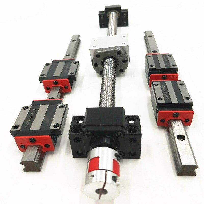 3 LINEAR RAIL HB15-300/600/1000mm sets +3 ball screws RM1605-300/600/1000+3BK/BF12 +3 nut housing +3 RB couplers for CNC аквариум на 600 1000 литров с рук