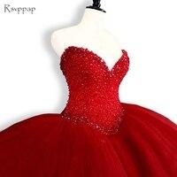 Puffy Abiti Quinceanera 2017 Dell'innamorato Top Perline Sweet 16 Abiti di Sfera Red Dress Quinceanera 15 Years Festa di Compleanno