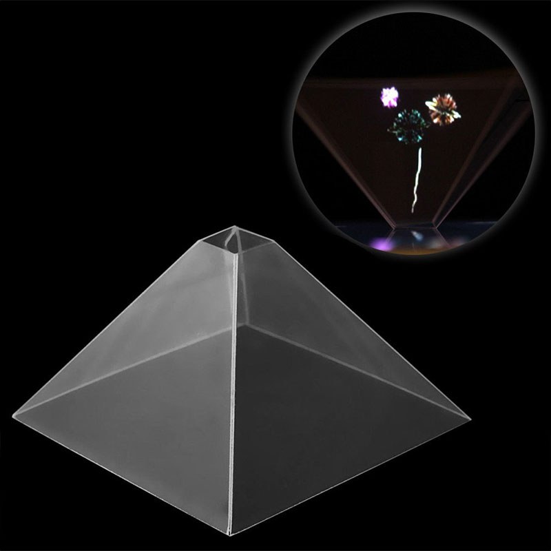 """3d Holographic Hologram Display Pyramid Projector Video For 3.5-6.5""""smart Phone Beneficial To Essential Medulla"""