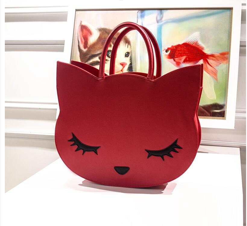 Hot sales! womens handbag autumn and winter large bag casual cat cartoon cat bag handbagHot sales! womens handbag autumn and winter large bag casual cat cartoon cat bag handbag
