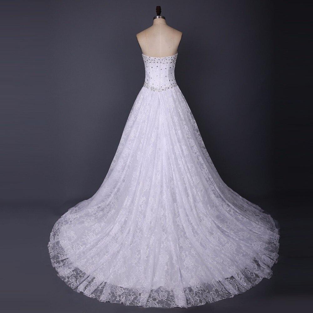Baijinbai romántico por encargo de lujo blanco perlas Encaje puffy ...