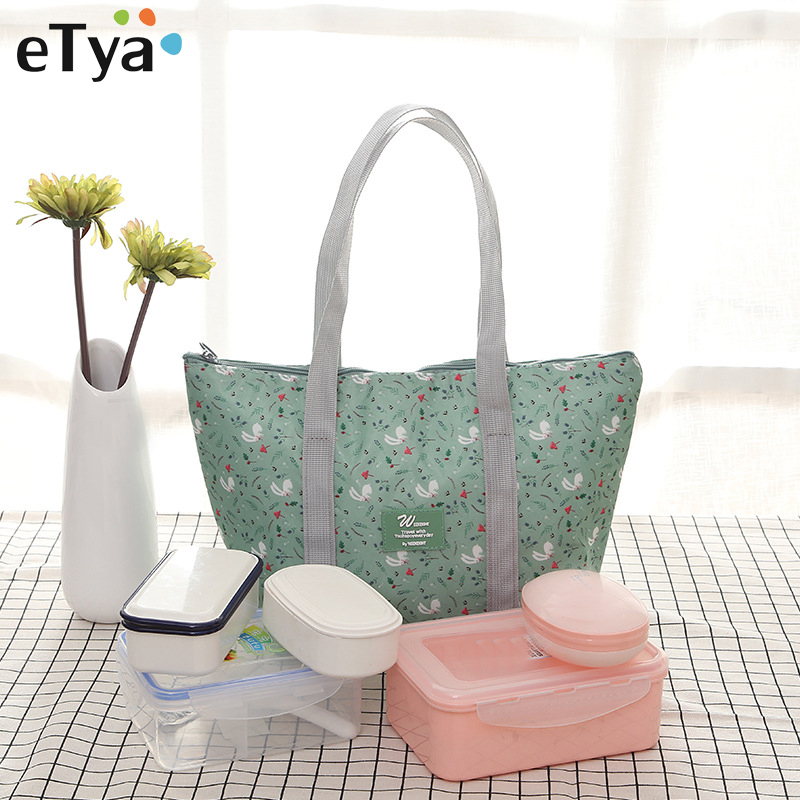 eTya Food Fresh Keep Lunch Box Bag Waterproof Picnic Travel Storage Food Thermal Insulated Fashion Large Capacity Lunch Bags 20l extra large camouflage cooler bags thermal insulated picnic bag box travel picnic food storage accessories supplies products