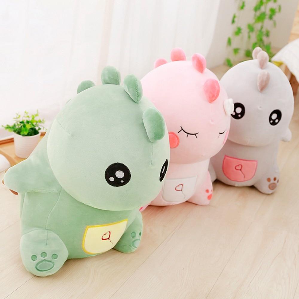 cute Green Dinosaur Plush Stuffed Animal, Cuddly soft toy Age 3+ stuffed toy