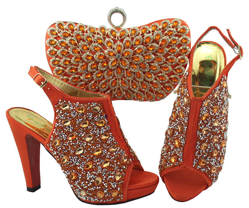 83f1e368a4 New Coral Color sandals shoes and clutches bag matching set size 38-42 new  african shoes and bag matching set for aso ebi party