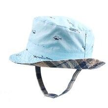 Cute Fish Baby Boys Hat Cotton Bucket For Spring Summer Kids Sun Cap Beach 2 Side Children 0-4Y Clothing