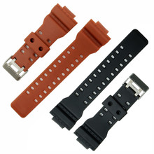 High Quality New Brand 16mm Black Rubber Watch Strap For DW-5600E DW-5700 G-5600 G-5700 Waterproof Silicone Belt Band +Tool все цены