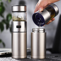 ONEISALL 570ml Stainless Steel Thermos Bottle Thermocup Tea Vaccum Flasks Christmas Gift Thermal Mug With Tea Insufer For Office