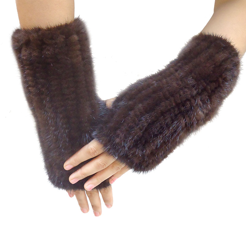 Women Fashion Fur Gloves Mink Knit Gloves High Density Knit Warm Gloves Free Shipping