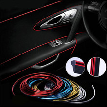 5M Universal Car Interior Slit Strip DIY Decor Door Sticker Moulding Styling Trim Decals Line DROP SHIPPING OK недорого
