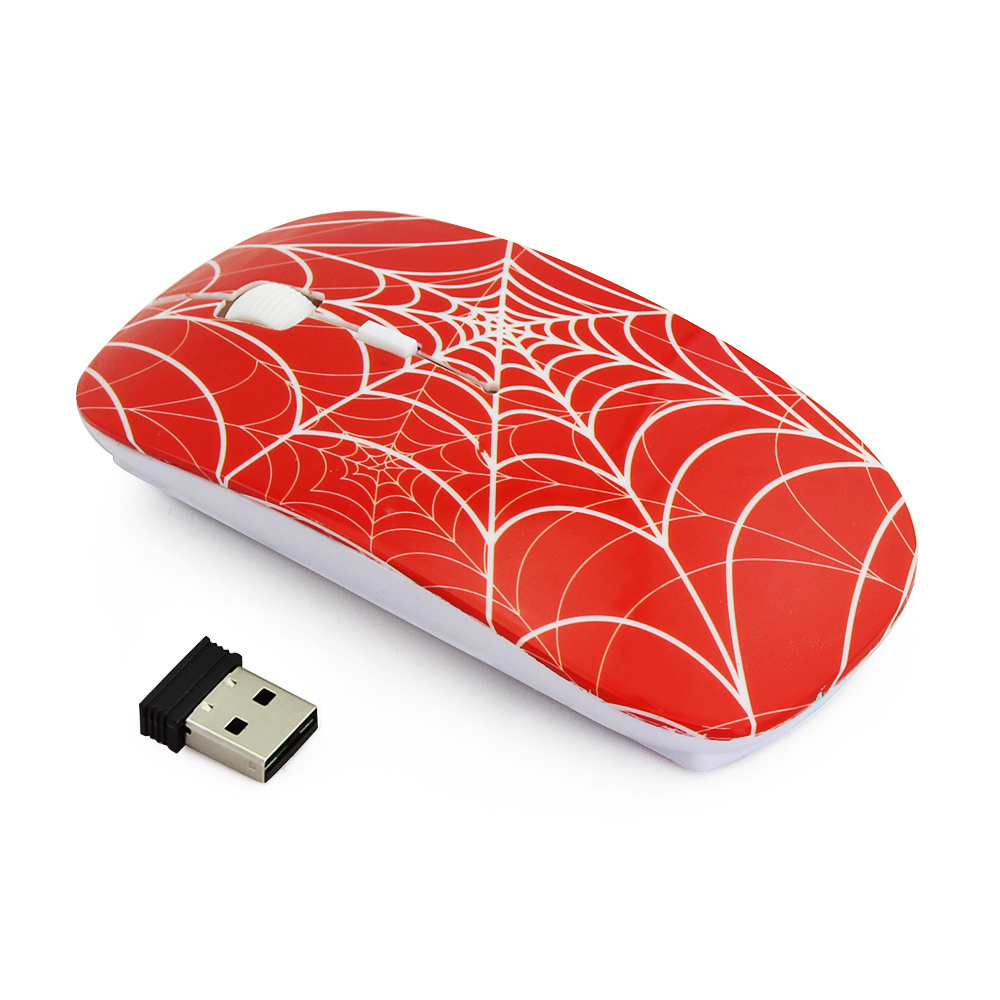 Generic Spider Web Optical USB Wireless Mouse Game Mice Computer Gaming Mause For Pro Gamer(Black) price in Nigeria