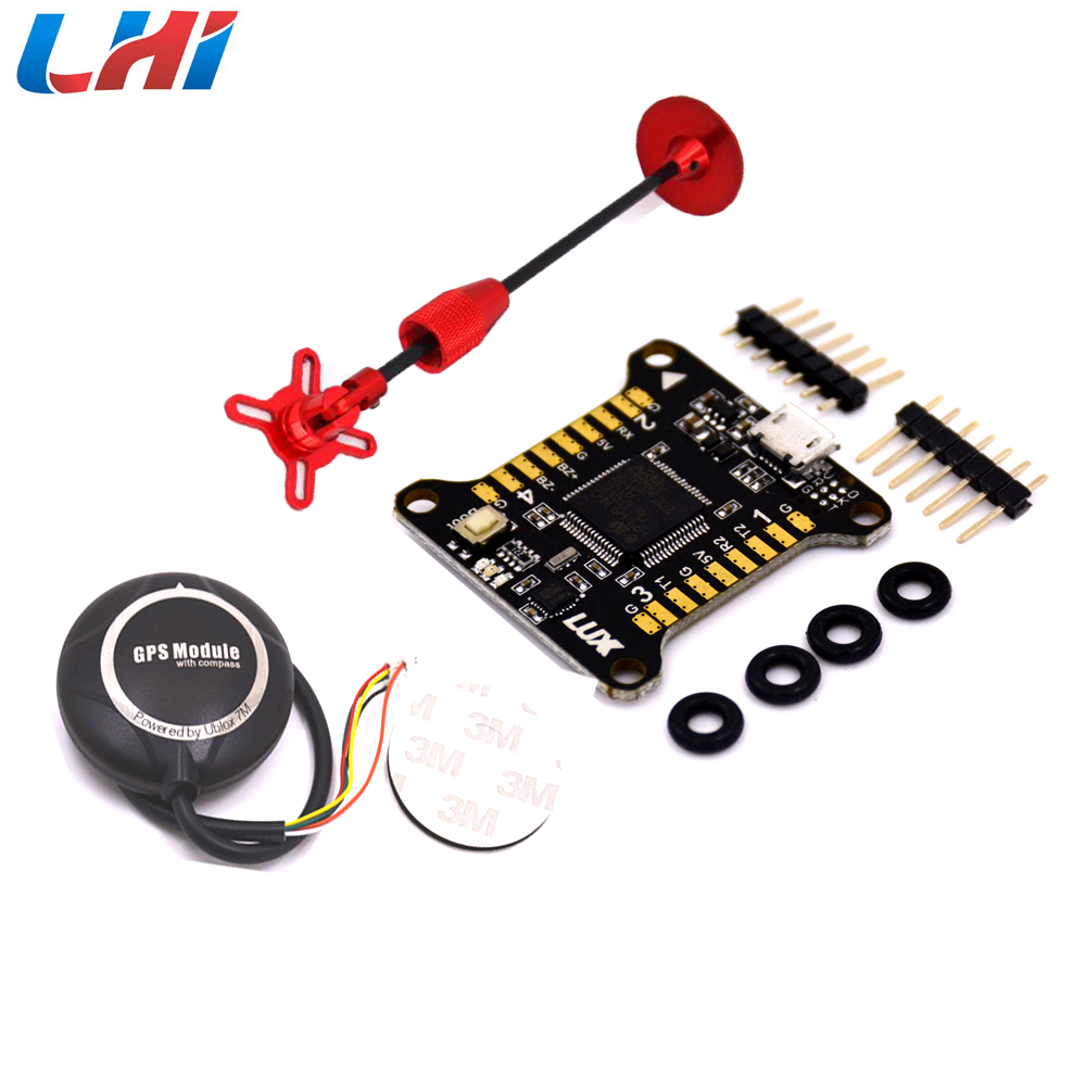 LUX 32-bit Processor Flight Controller &Ublox NEO-7M GPS Module w Compass Foldable GPS Bracket Holder wavelets processor