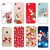 Soft TPU Silicone Phone Cases Coque Merry Christmas Santa Claus Happy New Year for iPhone