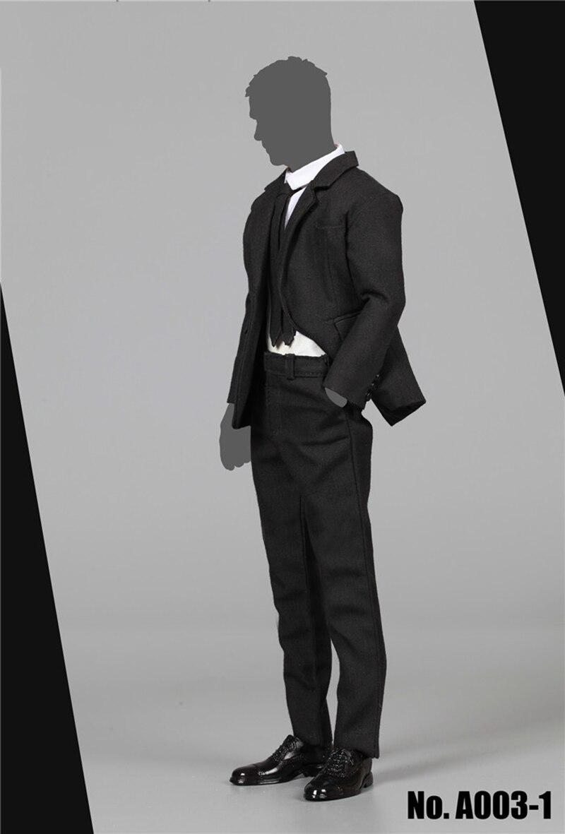 1/6 Mens Black Suit Coat Pants Shirt Shoes Narrow Shoulder for 12   Bodeis1/6 Mens Black Suit Coat Pants Shirt Shoes Narrow Shoulder for 12   Bodeis