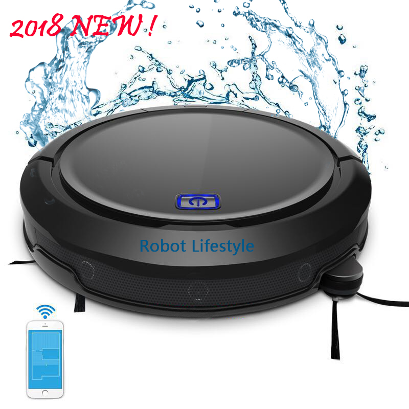 цена 2018 NEWEST robot vacuum cleaner cordless home QQ9 with water tank 200ml