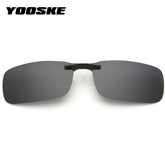 23721d7ba7 YOOSKE Polarized Clip On Sunglasses Men Driving Sun Glasses Women Night  Vision Lens Anti-UVA UVB Glasses Flip Up Eyeglasses