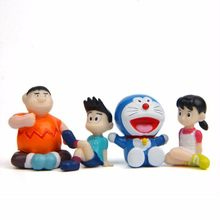 Hot 4pcs/lot Doraemon Pvc Action Figure Toys Doraemon Shizuka Minamoto Takeshi Goda Dorami Doranikov Model Figures Doll Kid Toys(China)