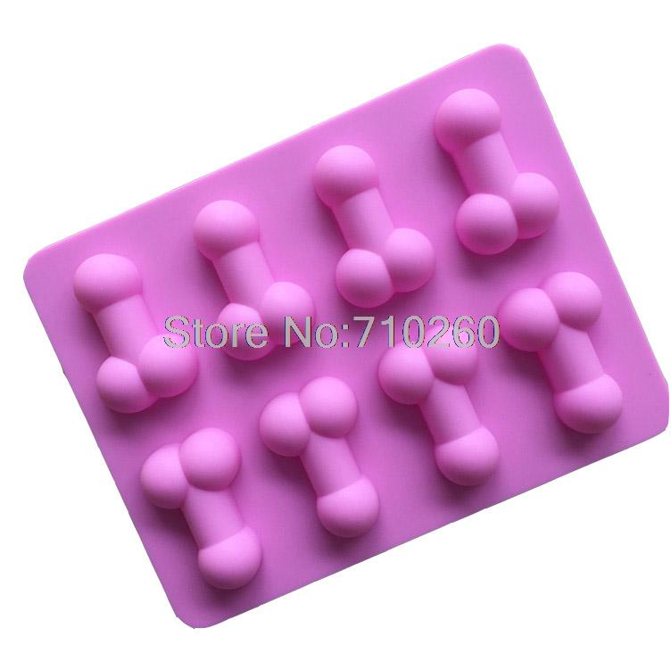 K054 Sexy Penis Cake Mold Dick Ice Cube Tray Silicone Mold Soap Candle Moulds Sugar Craft Tools Bakeware Chocolate Moulds