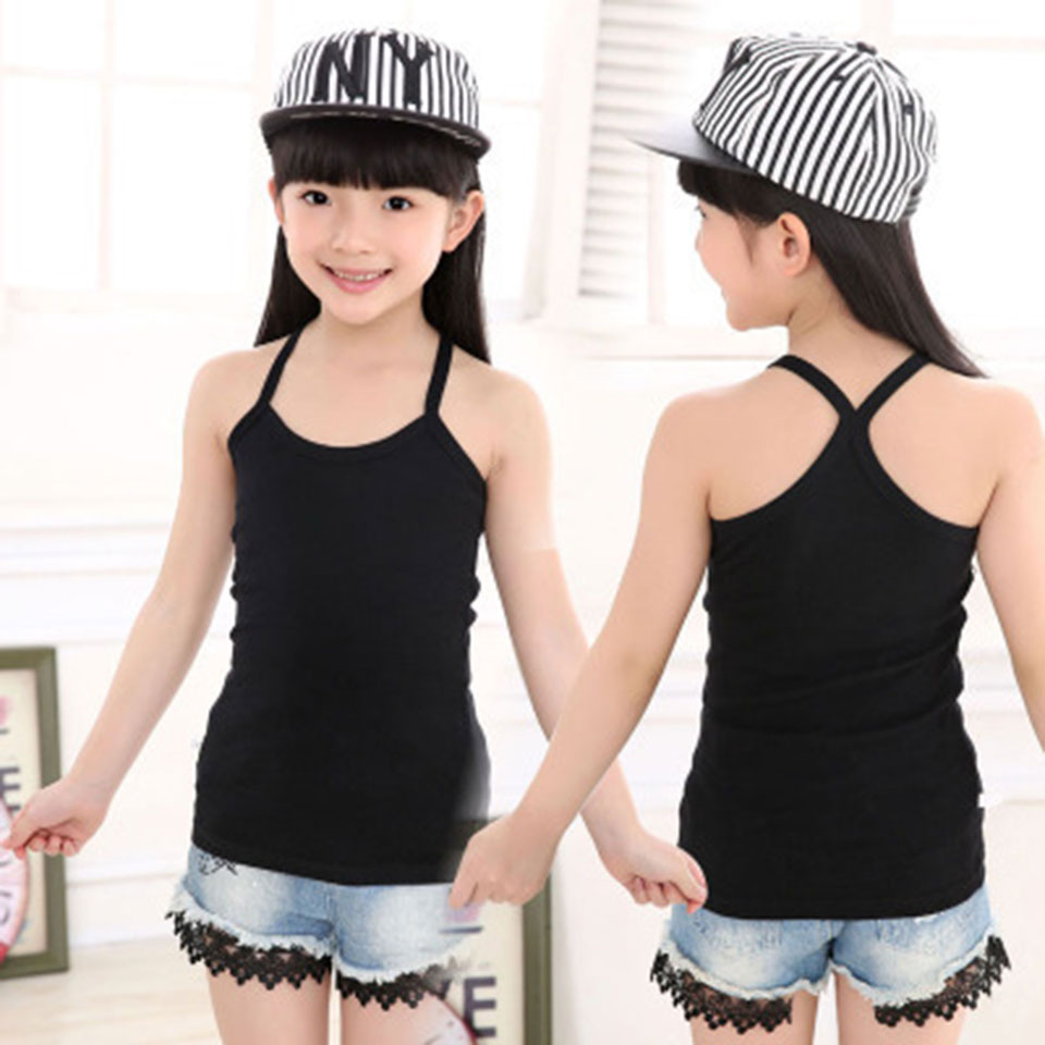 2018 New Fashion Kids Clothing Cotton Sleeveness Vest Children Clothes Baby Girl Boy T Shirts Boys Tees 20 Kinds Solid Color