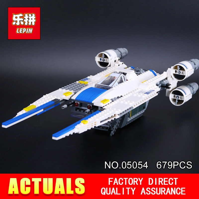 Lepin 05054 679pcs Star Genuine Series Wars U Star Wing Fighter Set Building Blocks Bricks Educational Kids DIY Child Toys 75155 конструктор lepin star plan истребитель повстанцев u wing 679 дет 05054