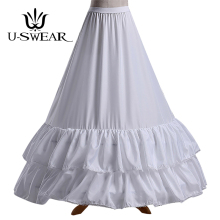 U-SWEAR 2018 New Arrival White Mesh Ruffle Women Wedding Petticoats Accessories Bridal Underskirts For Dress