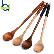 OBR Eco-friendly coffee Wooden Spoon scoops tea scoops coffee & tea tools coffees & tea sets Retro Long Handle Cutlery