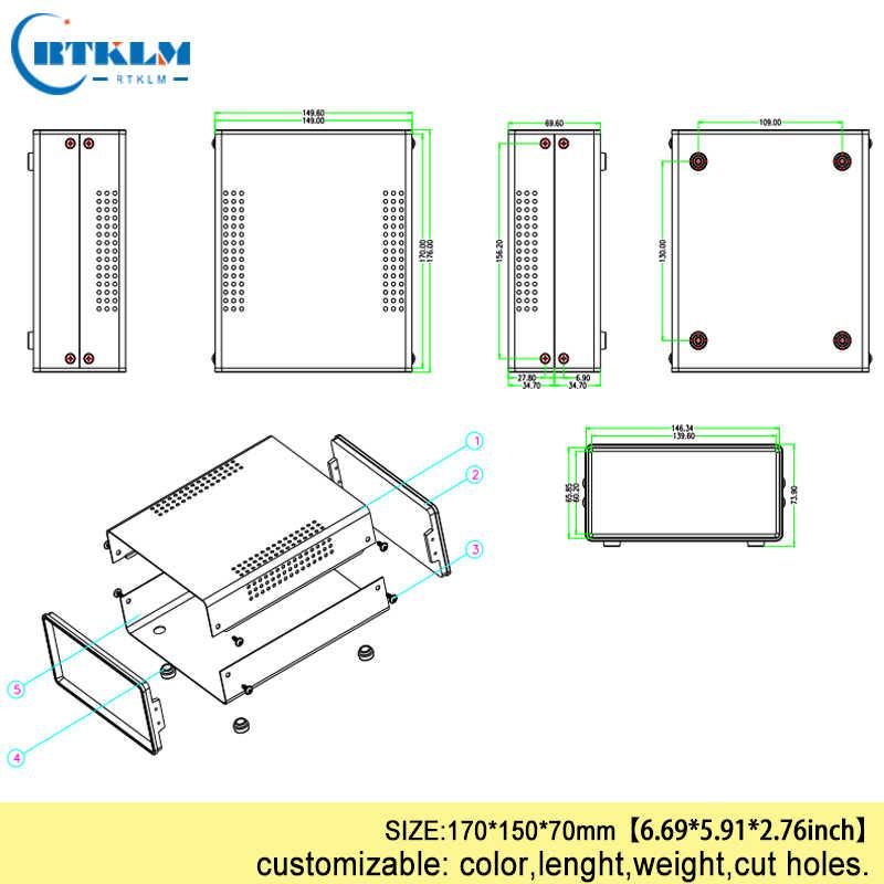 Elektrische Junction Instrument Doos Ijzeren Doos Voor Elektronica Project Behuizing Diy Iron Schakelaar Case 170*150*70mm