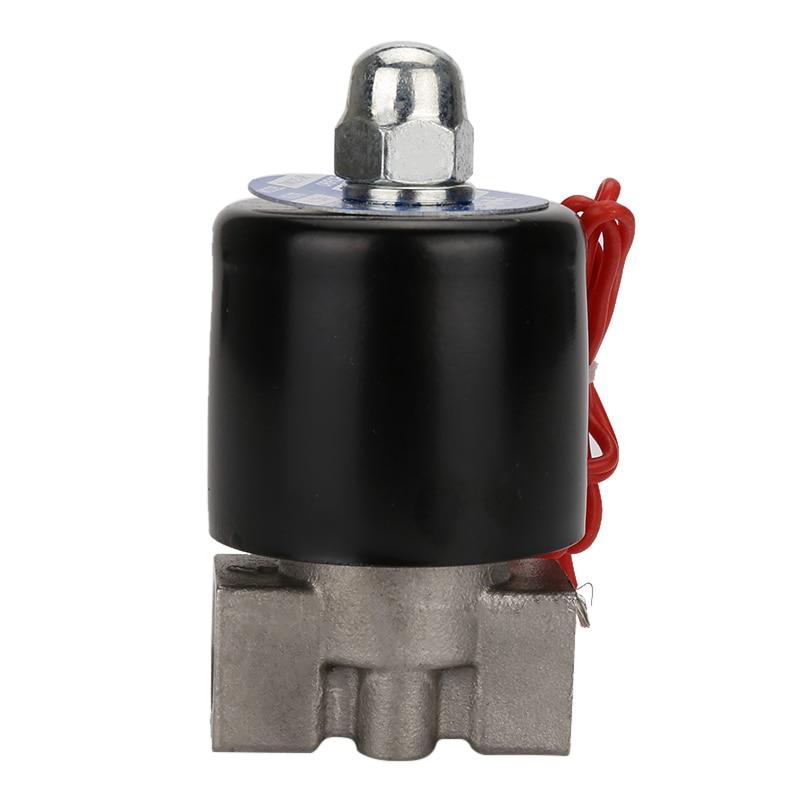 """DN08 AC220V 110V DC24V 12V 1/"""" компактный Соленоидный клапан из нержавеющей стали по хорошей цене для воздуха, воды, масла, Газа"""