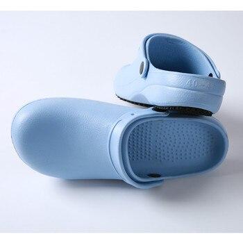 Rutschfeste Pflegeschuhe | 2018 Neue Nicht-slip Comfy EVA Krankenhaus Medizinische Männer Frauen Arbeiten Schuhe Chirurg Chirurgische Labor Schutz Hausschuhe Krankenschwester Arzt Schuhe