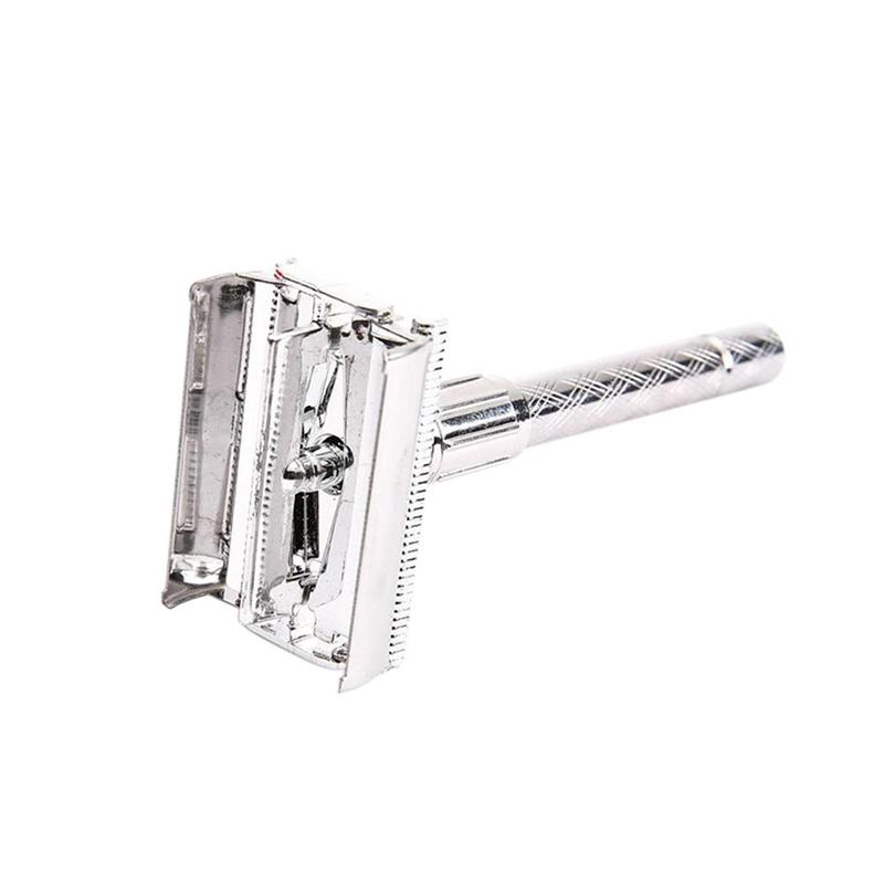 Adjustable Safe Razor For Men Traditional Classic Stainless Steel Manual Shaver Double Edge Blade Safety Razor