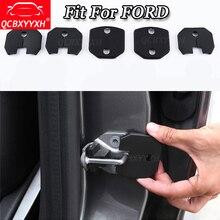 QCBXYYXH для Ford Focus Mondeo Kuga край Fiesta Everest Ecosport 04-18 4 шт./компл. автомобилей Дверные замки Защитная крышка авто аксессуары