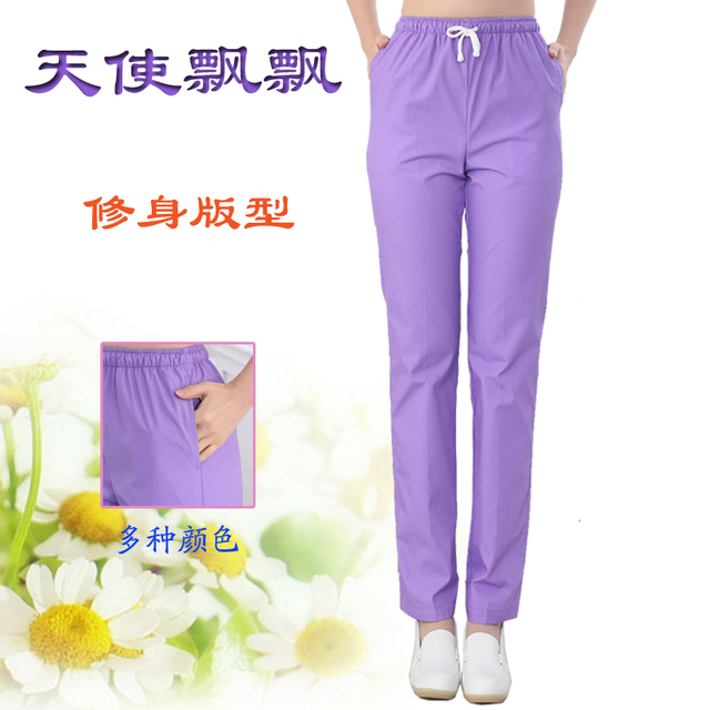 67ac5faec62 women Medical Uniforms Hospital Nurse Pants Female Doctors Nursing Workwear  Nurse Medical Pants Elastic Waist Trousers