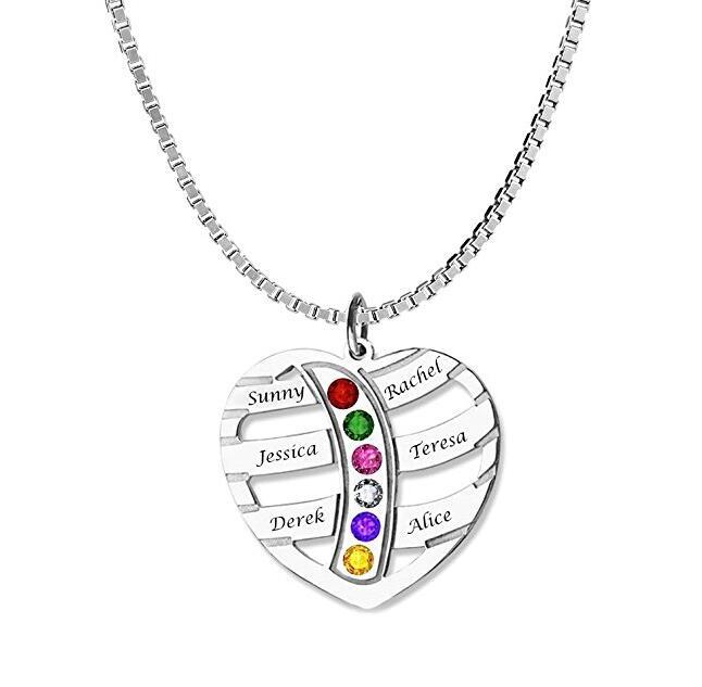 Exquis Collier Pendentif Coeur En Or Rose Colliers Bijoux Meilleur Cadeau D'anniversaire Peut Fait Sur Commande Tout Nom YP2979 (DropShipping)