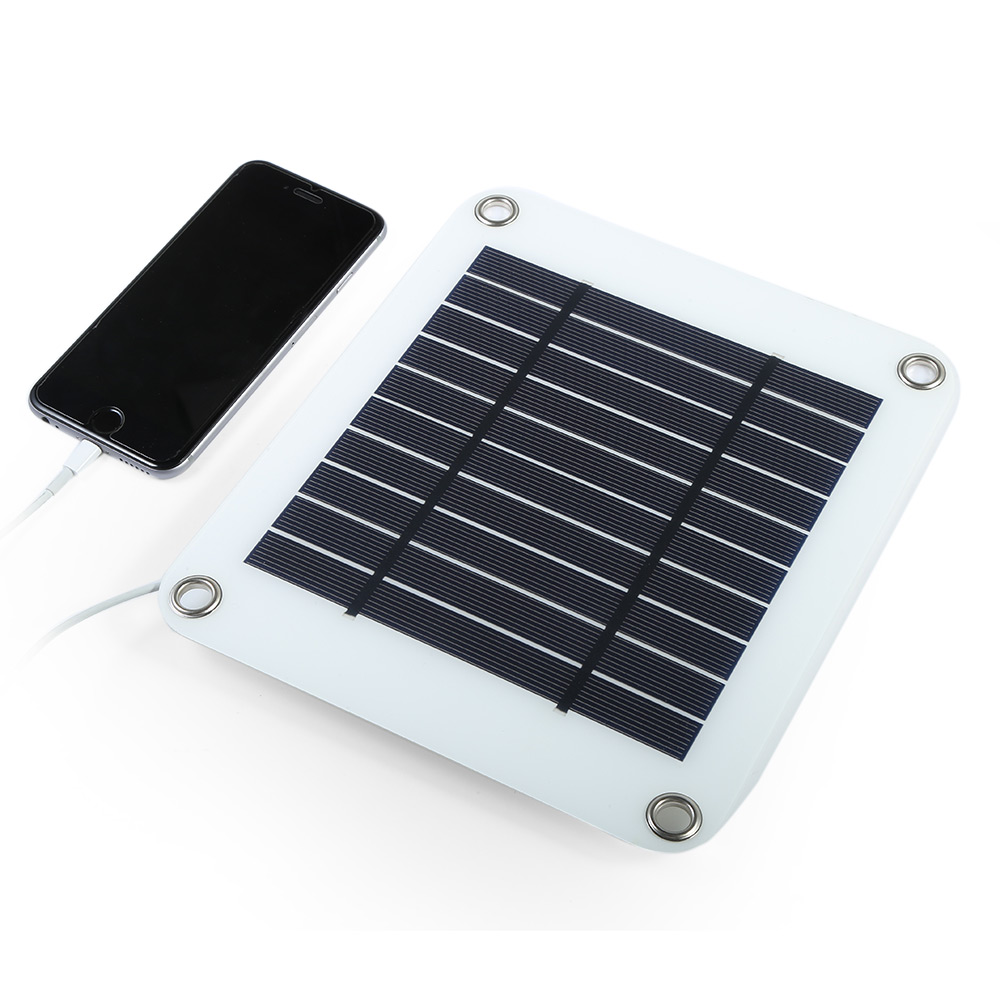 ELEGEEK 5W 5V Portable Solar Panel Charger USB Output Solar Charger Panel Cell Charging for iPhone Samsung HUAWEI Power Bank