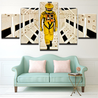 Pictures HD Print Canvas Paintings Wall 5 Panel Frames Person Is Dress In Yellow Landscape For Living Room Cuadros Picture YGYT