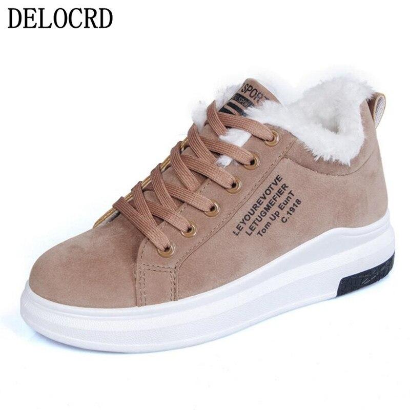 Shoes Female Cotton Boots Velvet Snow Thick-Soled Warm Plus Winter Women's New