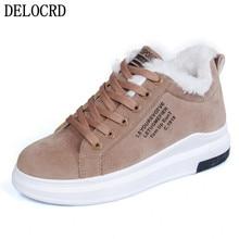 Женская обувь; зимняя женская обувь; теплая плюшевая женская повседневная обувь на меху; модные кроссовки на шнуровке; zapatillas mujer; зимние ботинки на платформе