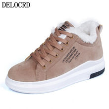 Frauen schuhe Winter Frauen Schuhe Warme Pelz Plüsch Dame Casual Schuhe Lace Up Fashion Sneakers Zapatillas Mujer Plattform Schnee stiefel(China)