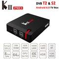Lo nuevo KIII PRO DVB-S2 DVB-T/T2 Smart TV CAJA Amlogic S912 OCTA Core 4 K 3 GB/16 GB Caja de TV Híbrido 2.4G/5 GHz Dual WiFi 4 K Conjunto Top Box