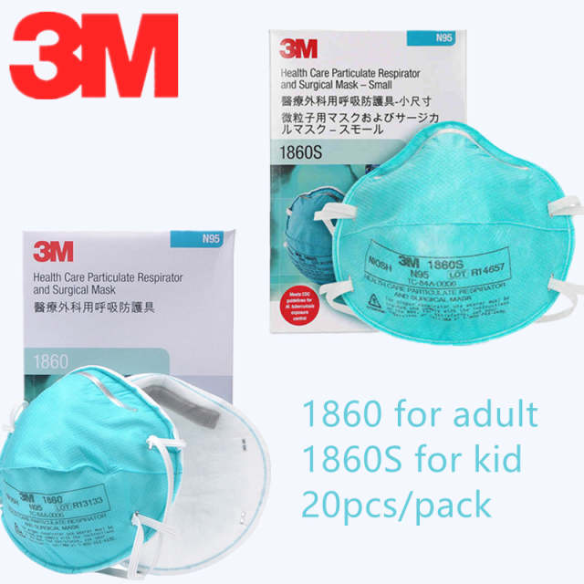 1860s Medical N95 Adult Kid 1860 Mask Gas 3m Virus Anti 20pcs