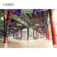 Laeacco Chinese Ancient Architecture Pattern Beams Pillar Photo Backgrounds Customized Photographic Backdrops For Photo Stadio