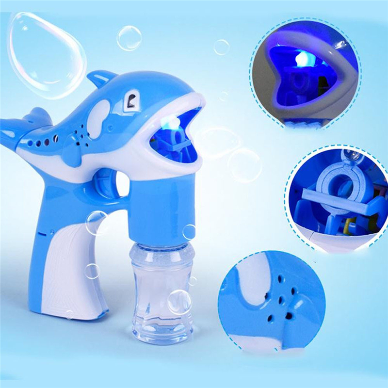 Blue LED Dolphin Music Lamp Light Cartoon Cute Animal Automatic Soap Water Toys Great Fun For Children Playing Drop Shipping