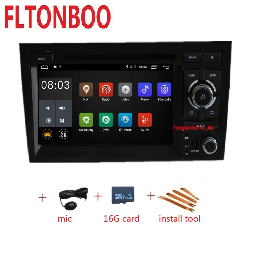 7 Android 9 for AUDI A4 2din car dvd gps navigation wifi radio bluetooth Steering wheel