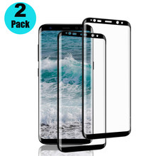2PCS Screen Protector For Samsung Galaxy S9+ S9 Tempered Glass Full Coverage Film S8 Plus S8+ S7 Edge A6 A8 J8 2018 Note 8 9(China)
